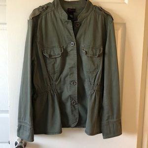 Torrid fall coat 🧥 olive green color size 1